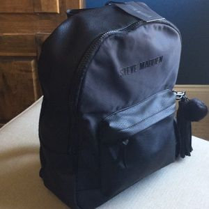 NWT Steve Madden large black backpack